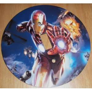 IRON MAN Light Switch Cover 5 Inch Round (12.5 cms) Switch