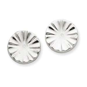 IceCarats Designer Jewelry Gift 14K White Gold Fancy Earring Jackets