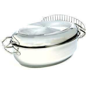 Quart Stainless Steel Multi Roaster with Rack 028901006433