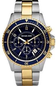 Mens Michael Kors Two Tone Chronograph Watch MK8175