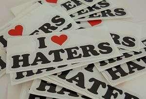 Heart Haters Sticker Decal   DGK, Car, hate, Honda Evo funny jdm