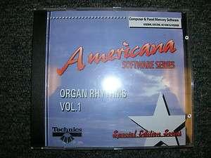 Technics KN Keyboard Software Americana Organ Rhythms Vol. 1