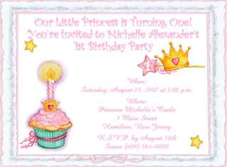 10 LITTLE PRINCE & PRINCESS CUSTOM BIRTHDAY INVITATIONS