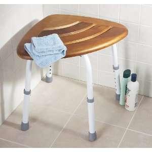 Drive Medical Teak Adjustable Height Bath Stool Shower