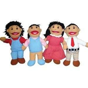 Full Bodied Open Mouth Puppets Asian (Set of 4) Toys & Games