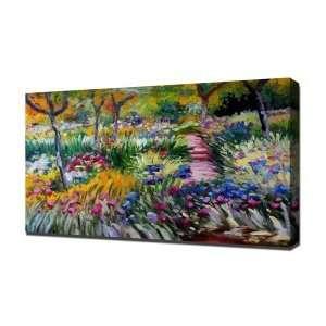 Claude Monet 0005   Canvas Art   Framed Size 32x48