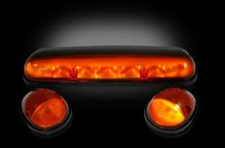 02 06 CHEVY GMC RECON LED CAB ROOF MARKER LIGHTS AMBER