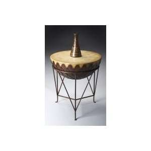 Round Eclectic End Table by Butler