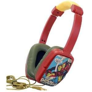 Marvel Comics Iron Man Overhead Stereo Headphones Cell