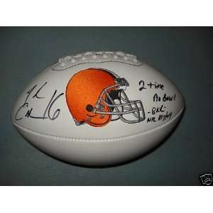JOSH CRIBBS SIGNED AUTOGRAPHED CLEVELAND BROWNS LOGO FOOTBALL W