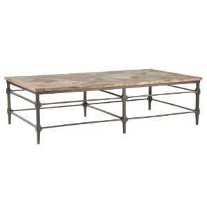 Mattix French Country Reclaimed Wood 64 Coffee Table Home & Kitchen