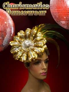 Multi COLOR DIVAS CABARET DRAG QUEEN show girl Feather Flower