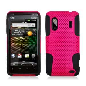 Perforated Hybrid Black/ Hot Pink Faceplate Hard Plastic