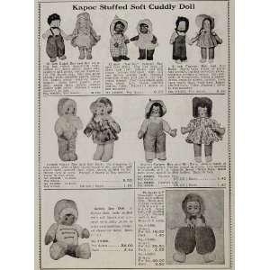 1937 Ad Kapoc Stuffed Doll Dutch Boy Girl Pudgykins   Original Print