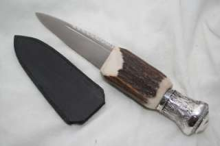 AND STERLING HANDLE CARBON BLADE SHEFFIELD SGIAN DUBH 1857 l@@K