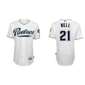 Wholesale San Diego Padres #21 Heath Bell White 2011 MLB Authentic
