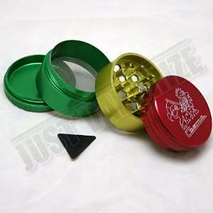 Case Medium 2.0 4 PC Magnetic Top Herbal Spice Grinder [RASTA COLOR