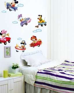 BABY MICKEY MOUSE KIDS ROOM Adhesive Removable Wall Decor Accents