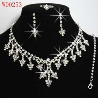 The Most Popular Graceful Wedding/Bridal Czech Crystal Necklace Sets