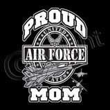 Proud Air Force Mom T Shirt Military Shirts SM 2XL