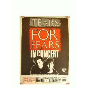 Tears For Fears German Concert Tour Poster 1985