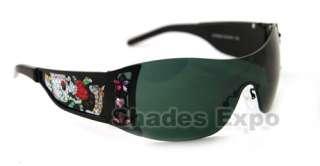 NEW ED HARDY SUNGLASSES EHS022 EHS 022 BLACK AUTH
