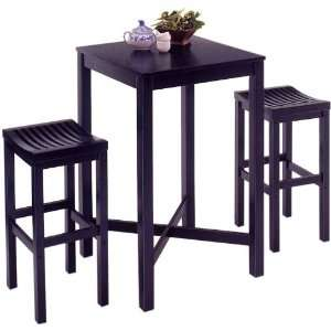 Home Styles Furniture Black Pub Table with Bar Stools