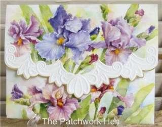 Wilson Purple Iris Blank Note Card Set Embossed 095372021531