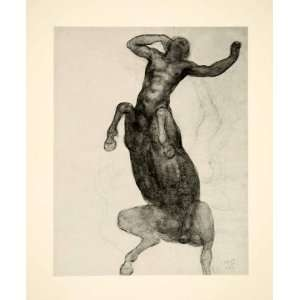 1974 Print Kahlil Gibran 1916 Art Mythical Centaur Beast