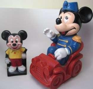MICKEY MOUSE Disney Prod BANK Lot 2 1970s Train Exc