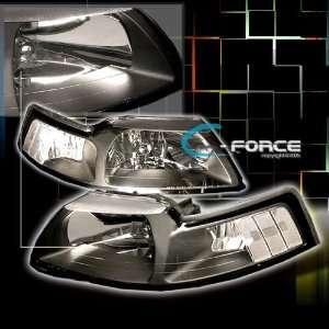 Ford Mustang Headlights Black Cobra GT Headlights 1999 2000 2001 2002