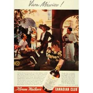 1937 Ad Viva Mexico! Hiram Walker Canadian Club Whisky
