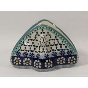 Polish Pottery Napkin Holder Daisy wz998 25: Home