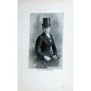 Antique Portrait 1896 Mrs James Hornsby Horsewoman