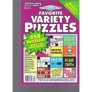 Penny Press Variety Puzzles (258 Puzzles, January 2010