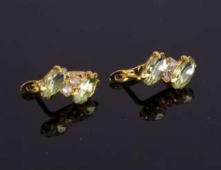 Clearance Sale ***Crystal & 18K Gold gp Charm Beads Earrings RA091