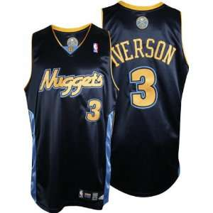 Allen Iverson adidas NBA Navy Authentic Denver Nuggets Jersey: