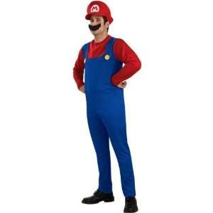 Super Mario Mens Nintendo Fancy Dress Costume Large