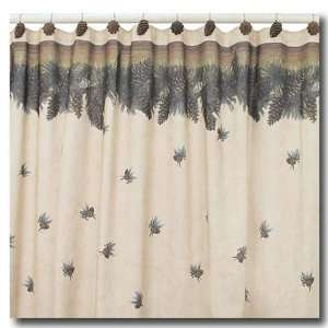 Pine Cone Pinecone Lodge Shower Curtain Bathroom Fabric