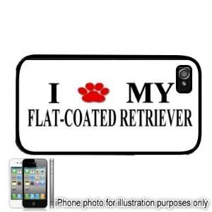 Flat Coated Retriever Paw Love Dog Apple iPhone 4 4S Case
