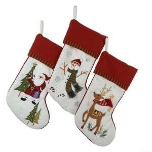 Club Pack of 12 Red & White Santa, Snowman & Reindeer Christmas
