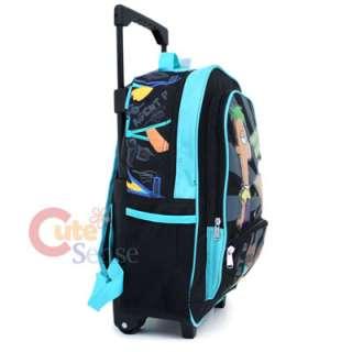 Phineas & Ferb School Roller Backpack Rolling Bag  16