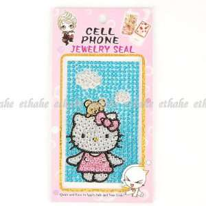Hello Kitty Mobile Phone Sticker Skin Cover Blue Cell