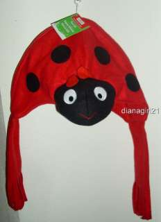 Childs Winter Fleece Hat * Lady Bug * Birthday * Christmas Holiday