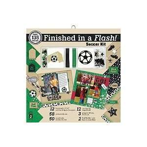 Finished In A Flash Page Kit 12X12   Soccer Arts, Crafts & Sewing