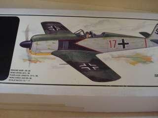ROYAL FOCKE WULF FW 190 SCALE RADIO CONTROL AIRPLANE KIT ** 61