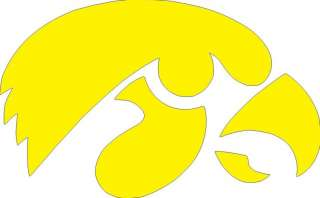 Iowa Hawkeye logo decal football vinyl logo wall IA 544
