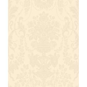 Damask Ivory Wallpaper by Blue Mountain in Shand Kydd (Double Roll