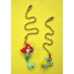 The Little Mermaid Princess ARIEL FLOUNDER Ceiling Fan Light Pulls SET