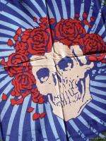 GRATEFUL DEAD SKULL ROSES BERTHA WALL TAPESTRY 60S ART